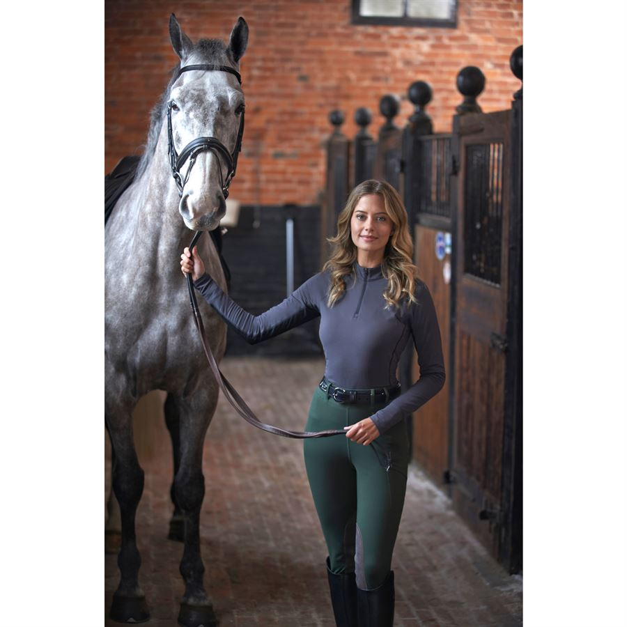Details about  /Noble Equestrian Ladies Hailey Long Sleeve Crew Shirt
