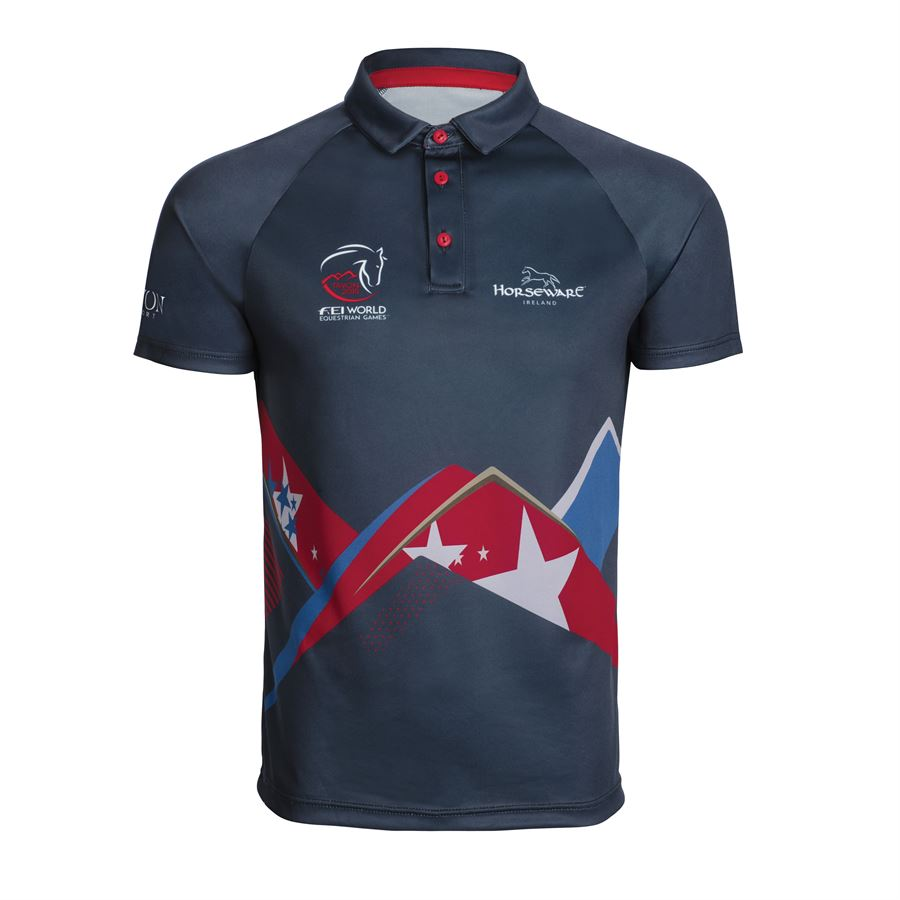 Weg Horseware Unisex Technical Sublimation Print Polo Shirt Dover