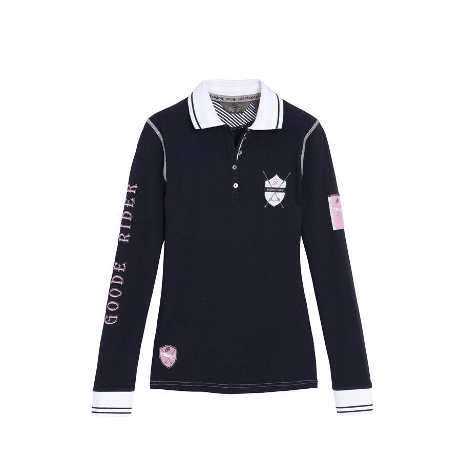 6//7 Size Color TuffRider Childrens Polo Sport Shirt Ocean