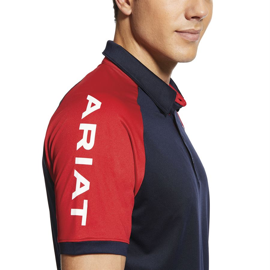 Ariat Mens New Team Polo Shirt FREE UK DELIVERY