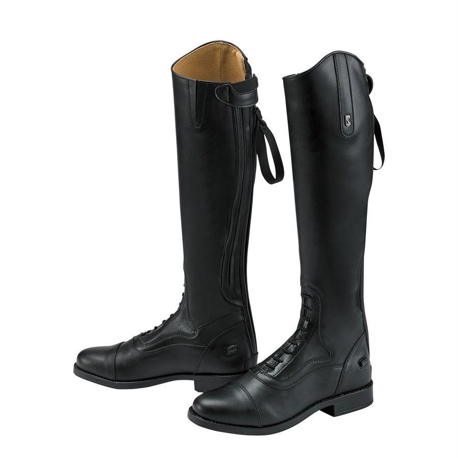 """Reg height 17.75"""" Reg calf 14"""" NEW Blk Tredstep Donatello Field Boots size 7.5"""