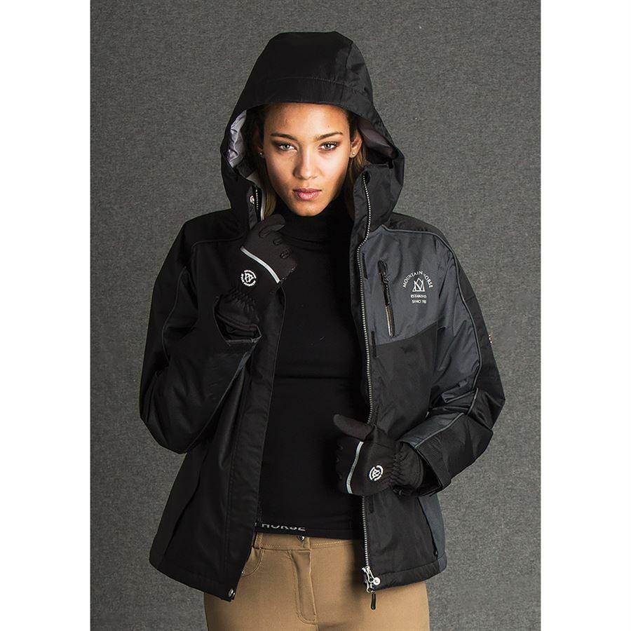 Various Sizes New Mountain Horse Ladies Amber Waterproof Jacket Black//Grey